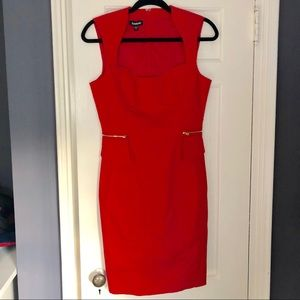 Bebe red dress  sz 6